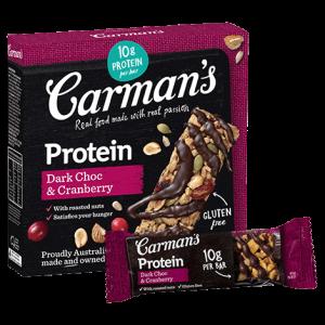 Carman's Dark Choc & Cranberry Protein Bars