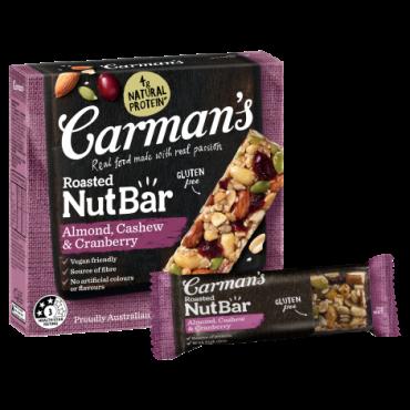 Almond, Cashew & Cranberry Nut Bars