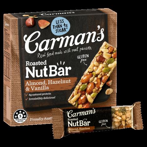 Almond, Hazelnut & Vanilla Nut Bars