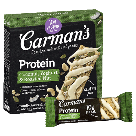 Coconut, Yoghurt & Roasted Nut Protein Bars