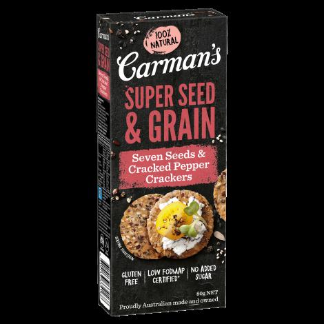 Seven Seeds & Cracked Pepper Super Seed & Grain Crackers