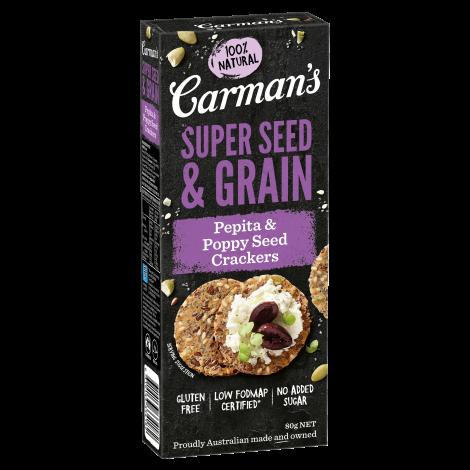 Pepita & Poppy Seed Super Seed & Grain Crackers