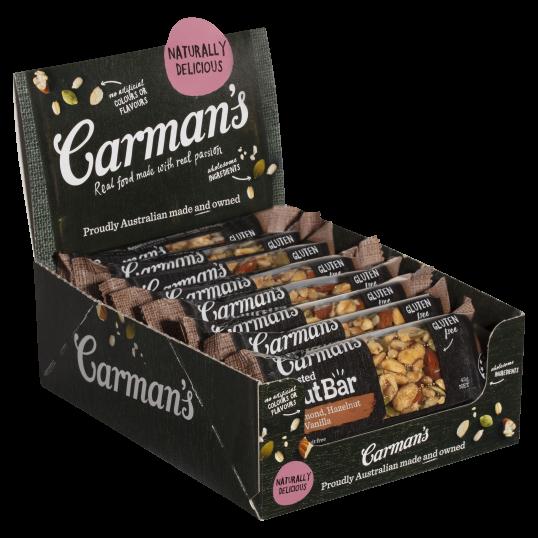 Almond, Hazelnut & Vanilla Nut Bars 12 x 45g
