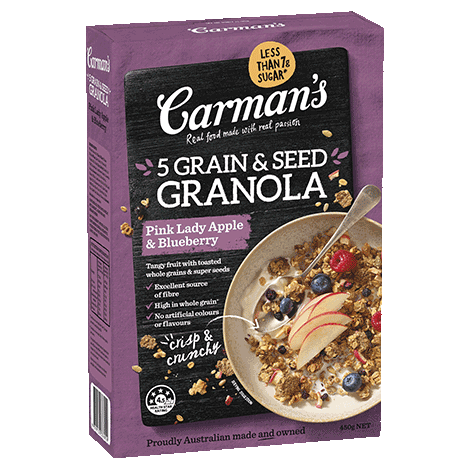 Pink Lady Apple & Blueberry 5 Grain & Seed Granola