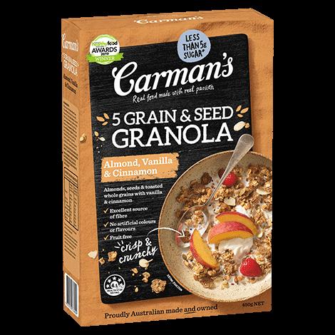 Almond, Vanilla & Cinnamon 5 Grain & Seed Granola