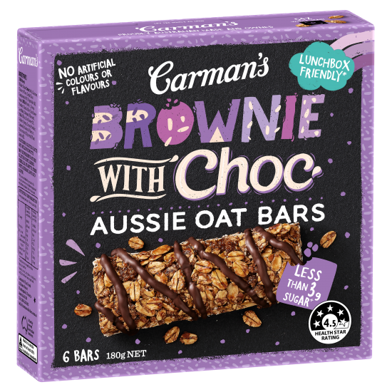 Brownie with Choc Aussie Oat Bars