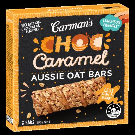 Choc Caramel Aussie Oat Bars