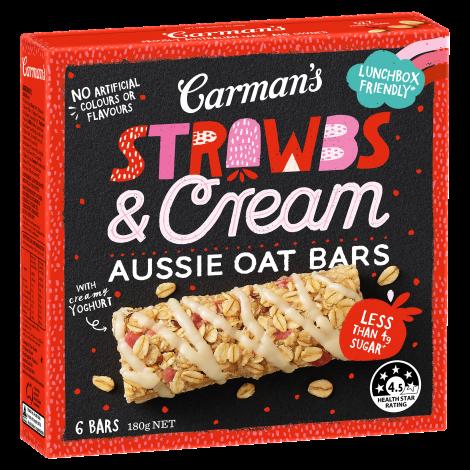 Strawbs & Cream Aussie Oat Bars