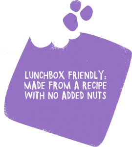 Lunchbox friendly made from a recipe with no added nuts
