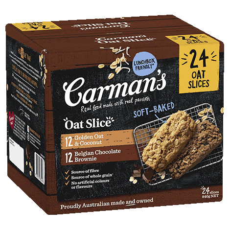 Oat Slice Variety Pack | Golden Oat & Coconut and Belgian Chocolate Brownie