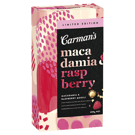 Limited Edition Macadamia & Raspberry Toasted Muesli