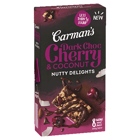 Dark Choc Cherry & Coconut Nutty Delights