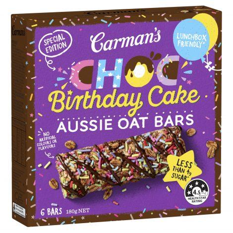 Special Edition Choc Birthday Cake Aussie Oat Bars