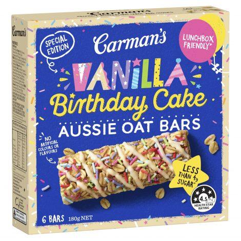 Special Edition Vanilla Birthday Cake Aussie Oat Bars