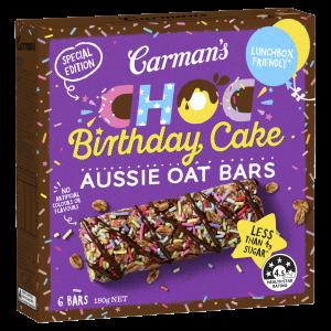 Carman's Choc Birthday Cake Aussie Oat Bars Special Edition