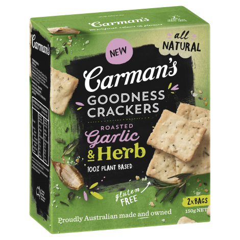 Roasted Garlic & Herb Goodness Crackers