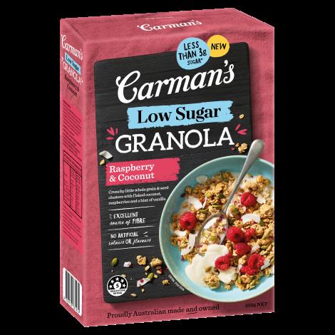 Raspberry & Coconut Low Sugar Granola