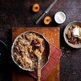 Spiced Pear & Plum Crumble