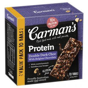 Carman's Protein Double Dark Choc with Belgian Chocolate