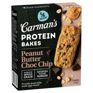 Carman's Peanut Butter Choc Chip Protein Bakes