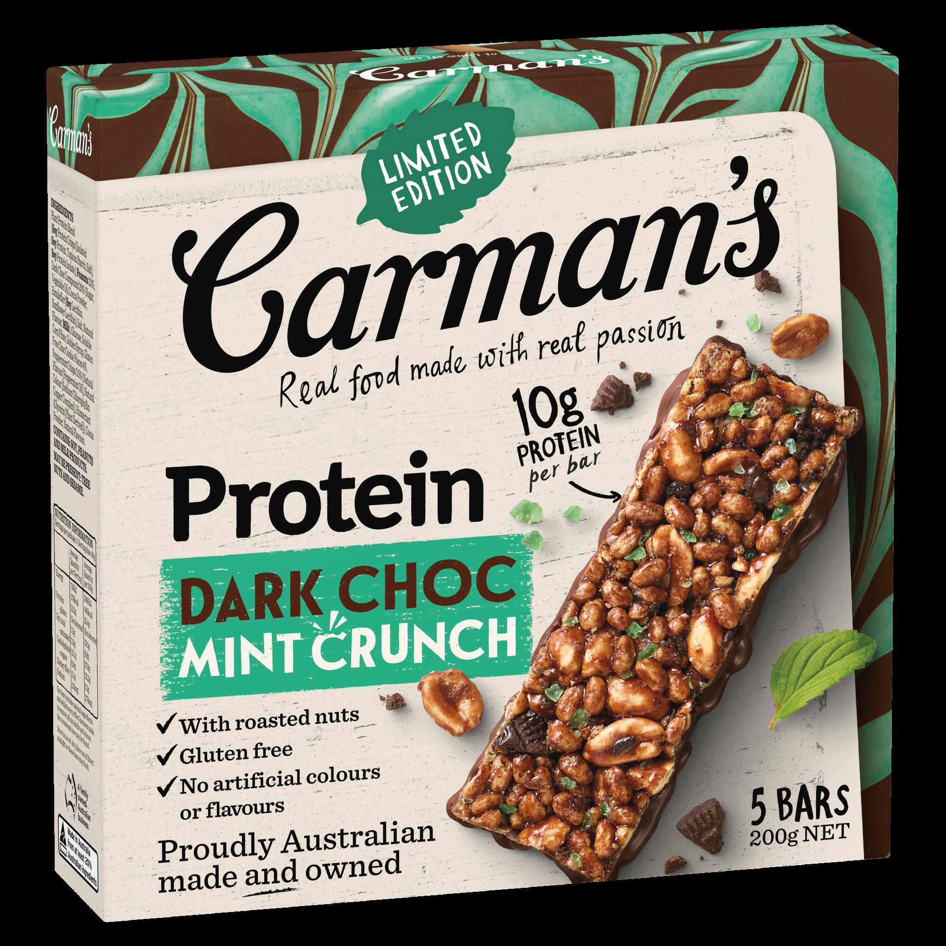 Dark choc Mint Crunch Protein Bars