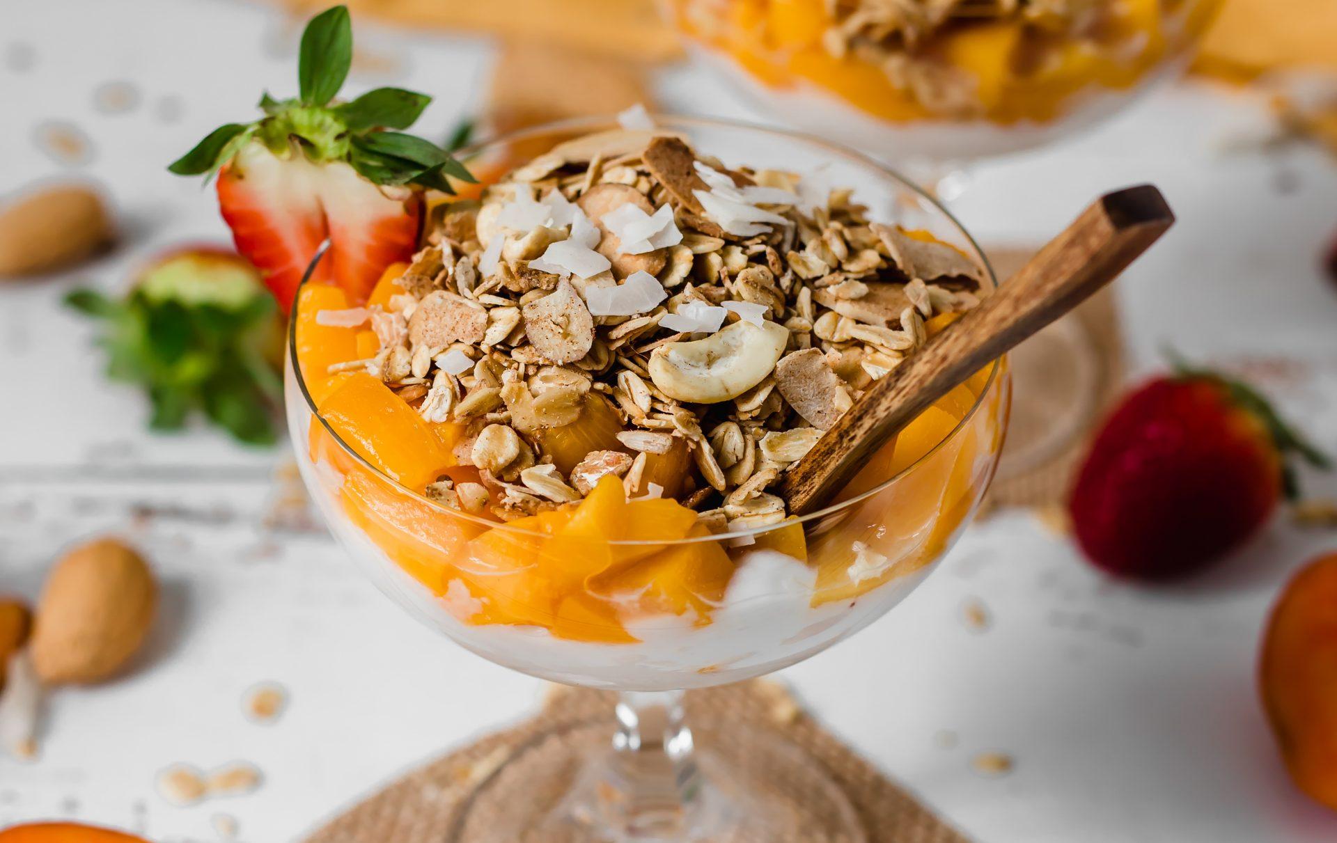 Photo of Carman's peachy muesli parfait