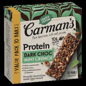 Dark Choc Mint Crunch Protein Bars 10 pack