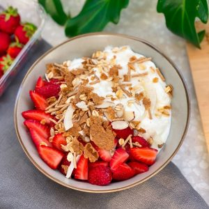 a photo of carman's yoghurt bowl and goodness & grains cereal