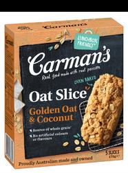 Golden Oat & Coconut Oat Slice