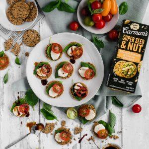 super seed & nut caprese bites recipe